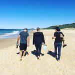 July: Noosa beach